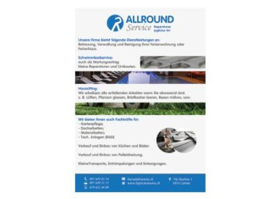 Flyer A5 – Allround Service