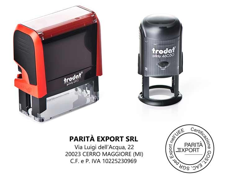 Timbri – Parità Export