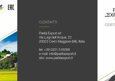 Depliant – Parità Export